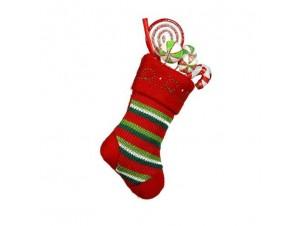 Χριστουγεννιάτικη υφασμάτινη κάλτσα