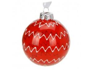 Χριστουγεννιάτικη Γυάλινη Μπάλα με σχέδιο
