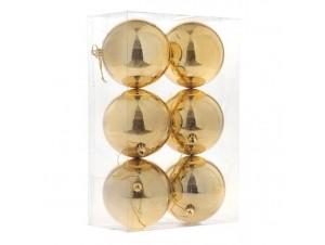 Set Χριστουγεννιάτικες Μπάλες Χρυσές