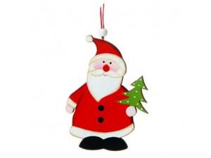Χριστουγεννιάτικο ξύλινο στολίδι Αι-Βασίλης