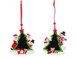 Σετ 2 τεμ. Χριστουγεννιάτικο ξύλινο διακοσμητικό δεντράκι