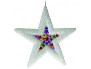 Χριστουγεννιάτικο αστέρι χιονισμένο 50 εκ.