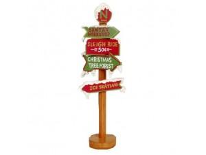Χριστουγεννιάτικη ξύλινη πινακίδα