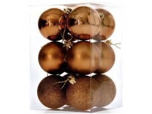 Set Χριστουγεννιάτικες Μπάλες Χάλκινες