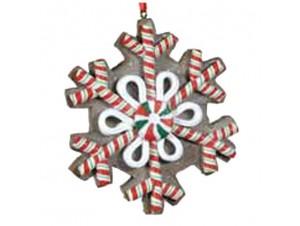 Χριστουγεννιάτικη διακοσμητική νιφάδα ζαχαρωτό