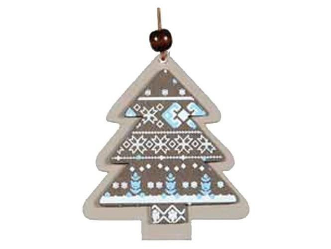 Χριστουγεννιάτικο Ξύλινο Στολίδι δέντρο