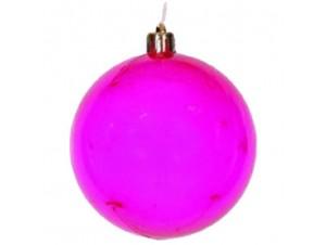 Μωβ-ροζ πλαστικη Χριστουγεννιάτικη Μπάλα