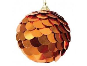 Χάλκινη Χριστουγεννιάτικη Άθραυστη Μπάλα