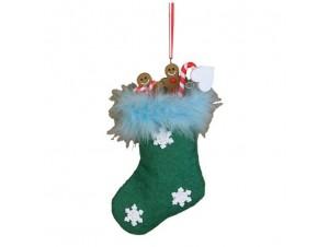 Χριστουγεννιάτικη κάλτσα στολίδι 11624