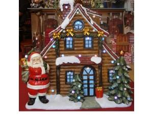 Χριστουγεννιάτικο σπιτάκι φωτιζόμενο 80x90x40 εκ.