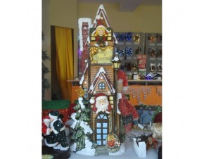 Χριστουγεννιάτικο σπιτάκι φωτιζόμενο 100x45x25 εκ.