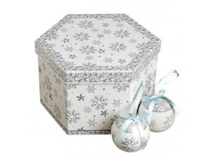 SET Χριστουγεννιάτικες Παιδικές μπάλες σε κουτί