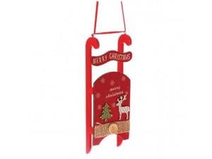 Χριστουγεννιάτικο ξύλινο στολίδι έλκυθρο