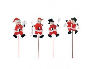 Σετ 4 τεμ.Χριστουγεννιάτικο Μεταλλικό Πικ-Χιονάνθρωποι