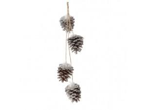 Χριστουγεννιάτικο ξύλινο διακοσμητικό κουκουνάρι