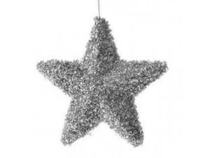 Χριστουγεννιάτικο στολίδι αστέρι ασημένιο