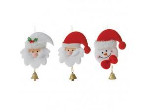 Χριστουγεννιάτικο τσόχινο στολίδι προσωπάκια