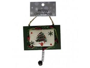 Χριστουγεννιάτικο ξύλινο στολίδι πινακίδα