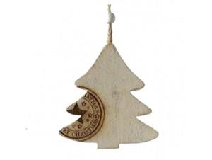 Χριστουγεννιάτικο ξύλινο στολίδι 12 εκ.