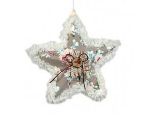 Χριστουγεννιάτικο υφασμάτινο στολίδι Αστεράκι