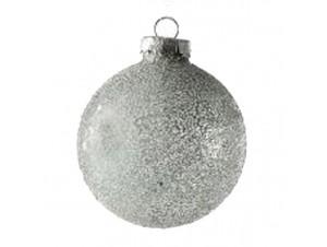 Χριστουγεννιάτικη Γυάλινη μπάλα Ασημί