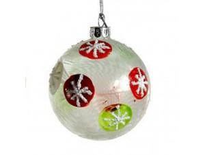 Χριστουγεννιάτικη γυάλινη μπάλα παγωμένη