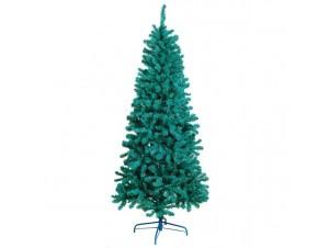 Blue Slim Flocked Χριστουγεννιάτικο Δέντρο 210 εκατ.