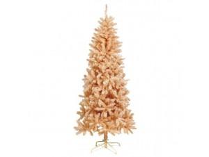 Pink Slim Flocked Χριστουγεννιάτικο Δέντρο 210 εκατ.