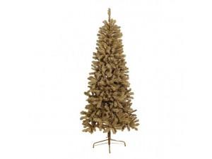 Gold Slim Flocked Χριστουγεννιάτικο Δέντρο 210 εκατ.