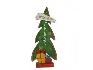 Χριστουγεννιάτικο ξύλινο διακοσμητικό Δέντρο