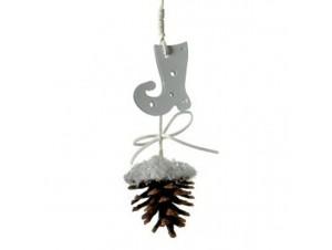 Χριστουγεννιάτικο διακοσμητικό χιονισμένο κουκουνάρι