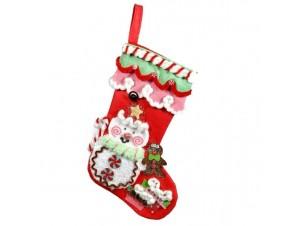 Χριστουγεννιάτικη κάλτσα ζαχαρωτή 30 εκ.