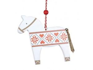 Χριστουγεννιάτικο Ξύλινο Στολίδι Αλογάκι