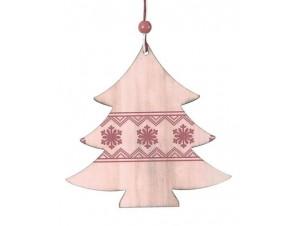Χριστουγεννιάτικο Ξύλινο Στολίδι Δεντράκι