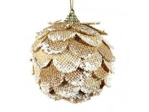 Χριστουγεννιάτικη υφασμάτινη μπάλα