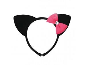 Αποκριάτικο αξεσουάρ Στέκα Γάτας με ροζ φιόγκο