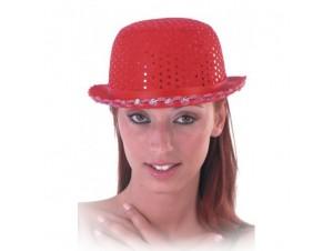 Αποκριάτικο καπέλο κόκκινο με πούλιες