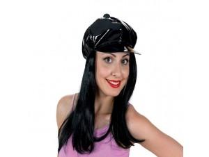 Αποκριάτικη Περούκα με καπέλο Jockey Vinyl
