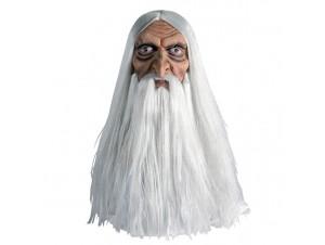Latex μάσκα Μάγου με άσπρα μαλλιά