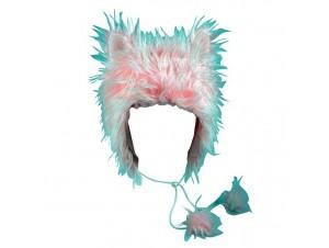 Αποκριάτικο καπέλο Γούνινο Γατάκι Ροζ