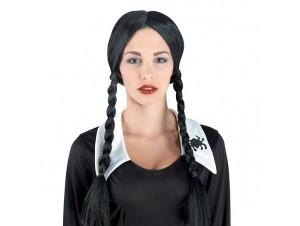 Αποκριάτικη περούκα WEDNESDAY γυναικεία