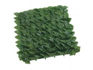 Φράκτης Φύλλο Επεκτεινόμενος Σκούρο Πράσινο PVC
