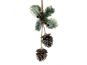 Χριστουγεννιάτικο διακοσμητικό κουκουνάρι