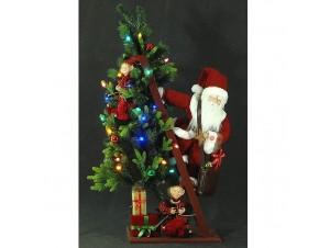 Χριστουγεννιάτικος φωτιζόμενος διακοσμητικός Αγ.Βασίλης