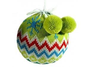 Χριστουγεννιάτικη μπάλα υφασμάτινη 8 εκ