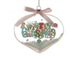 Χριστουγεννιάτικη Μπάλα Γυάλινη Επίπεδη