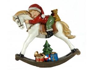 Χριστουγεννιάτικο Επιτραπέζιο Διακοσμητικό Αλογάκι