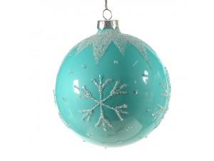 Χριστουγεννιάτικη Μπάλα Γυάλινη 10 εκ