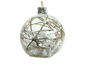 Χριστουγεννιάτικη Μπάλα Γυάλινη 12 εκ