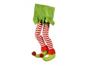 Χριστουγεννιάτικο Διακοσμητικό Πόδια Ξωτικού 58 εκ.